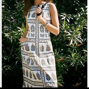 Anthropologie Woodblock Floral Dress